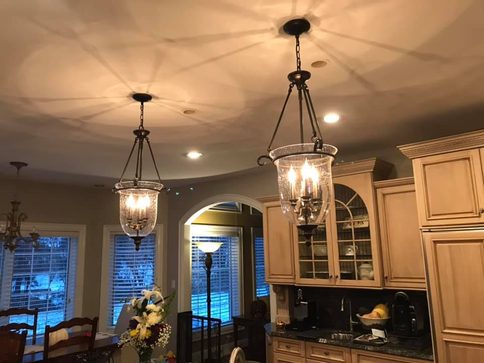 new lights in a house