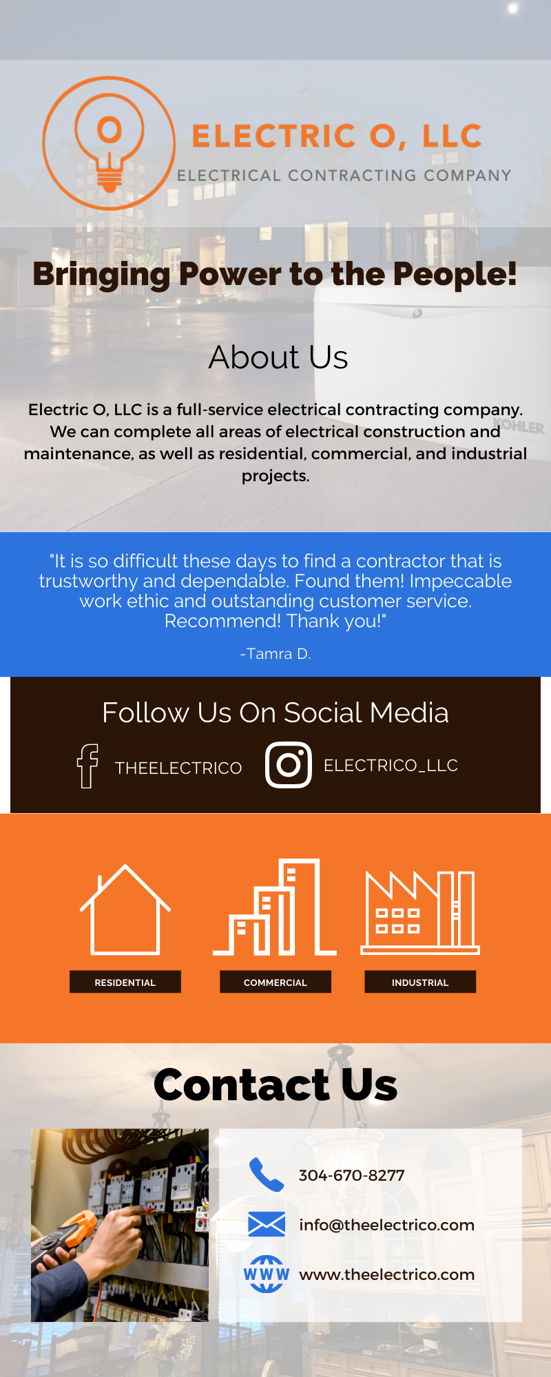 Professional and High Quality Electrical Services! 3